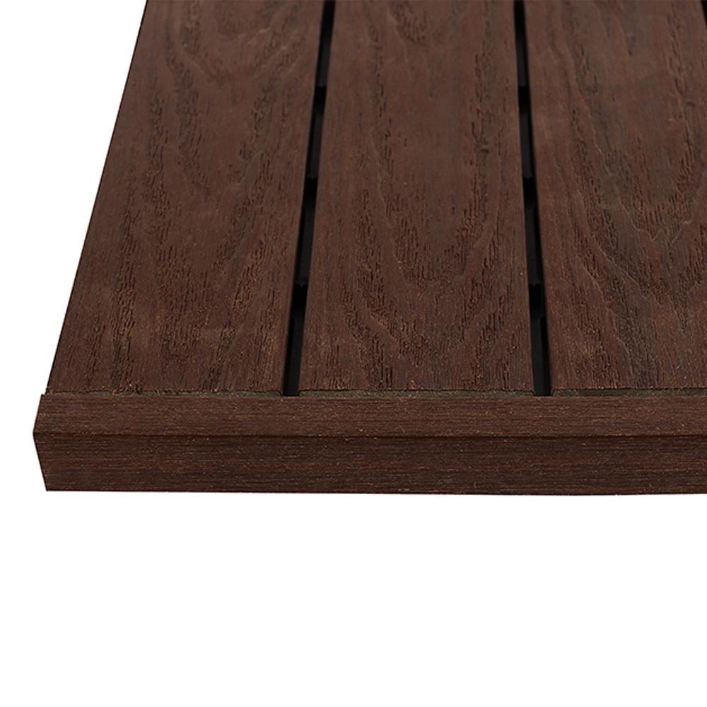 1/6 ft. x 1 ft. California Redwood Quick Deck Composite Deck Tile Straight End Fascia (4-Piece/Box)