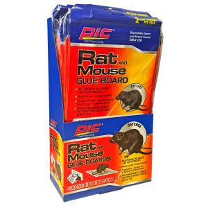 PIC Glue Large Rat Board Traps (2-Pack/Case) (Total Number of Boards - 48) by PIC