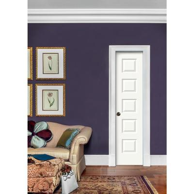 18 in. x 80 in. Rockport Primed Right-Hand Smooth Molded Composite MDF Single Prehung Interior Door