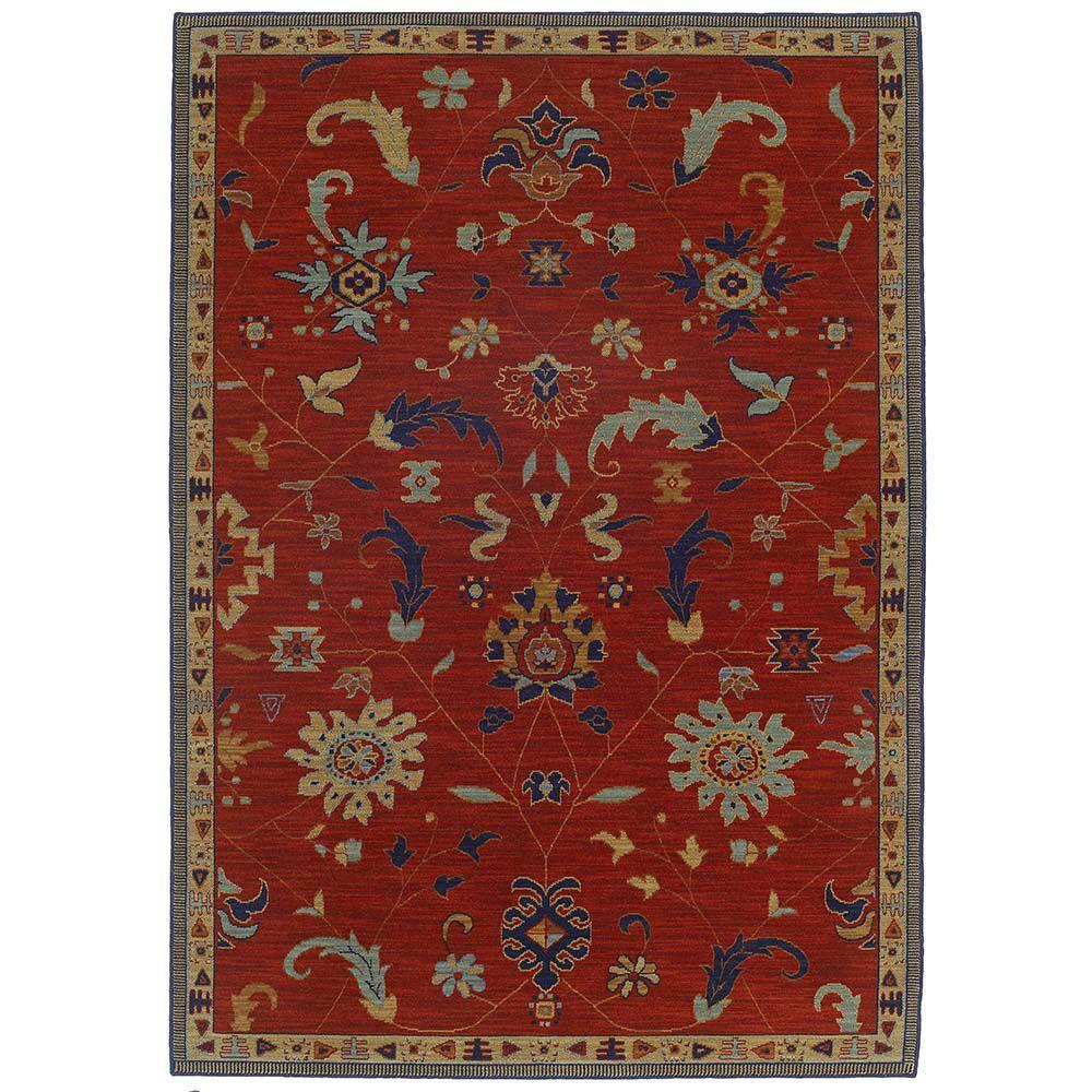 Karastan Preston Red 8 ft. x 10 ft. 5 in. Area Rug