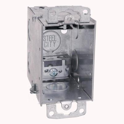 18 cu. in. Old Work Pre-Galvanized Metal Gangable Switch Box (Case of 25)