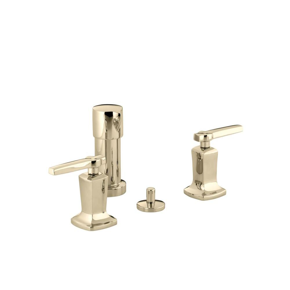 Margaux 2-Handle Bidet Faucet in Vibrant French Gold