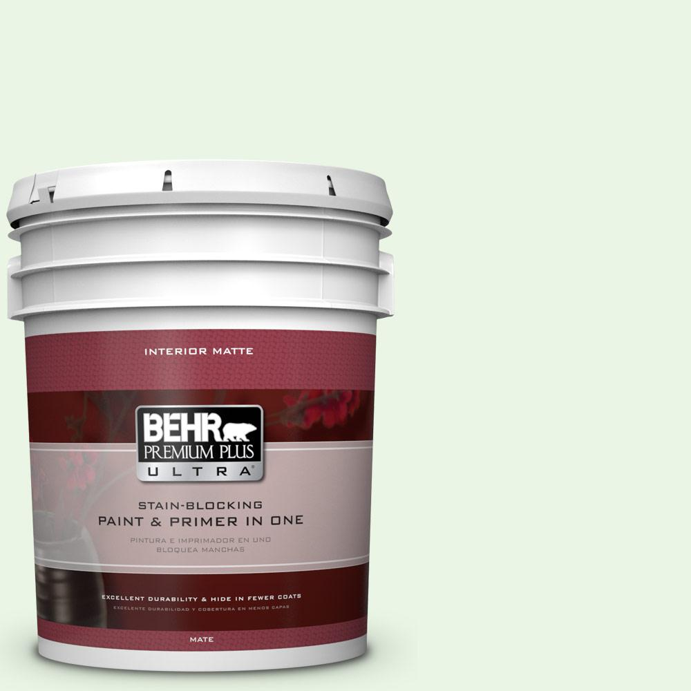 BEHR Premium Plus Ultra 5 gal. #430A-1 Mint Hint Flat/Matte Interior Paint