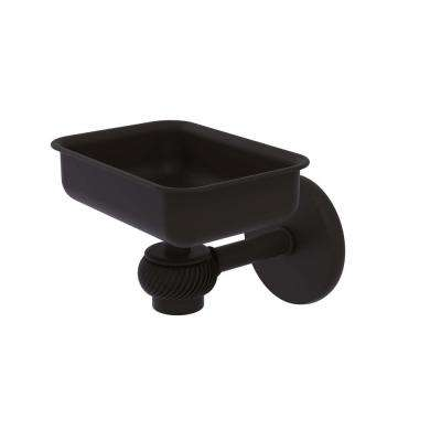 Satellite Orbit One Wall Mounted Soap Dish with Twisted Accents in Oil Rubbed Bronze