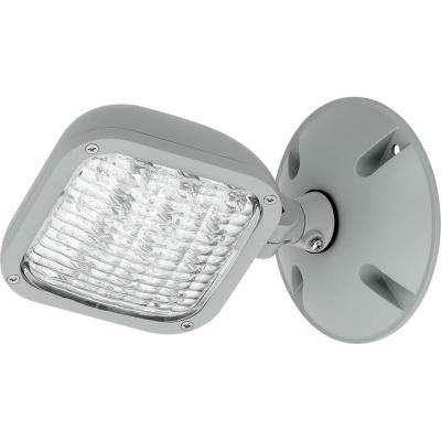 PEWLH Collection 0-Watt Metallic Gray Integrated LED Emergency Light