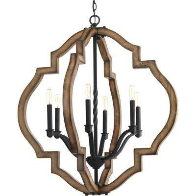 black chandelier lighting contemporary spicewood collection 6light black gilded iron chandelier progress lighting chandeliers the home depot