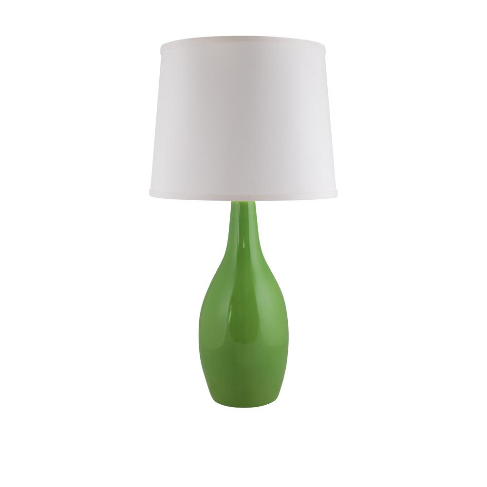 Droplet 25 in. Clover Green Indoor Table Lamp