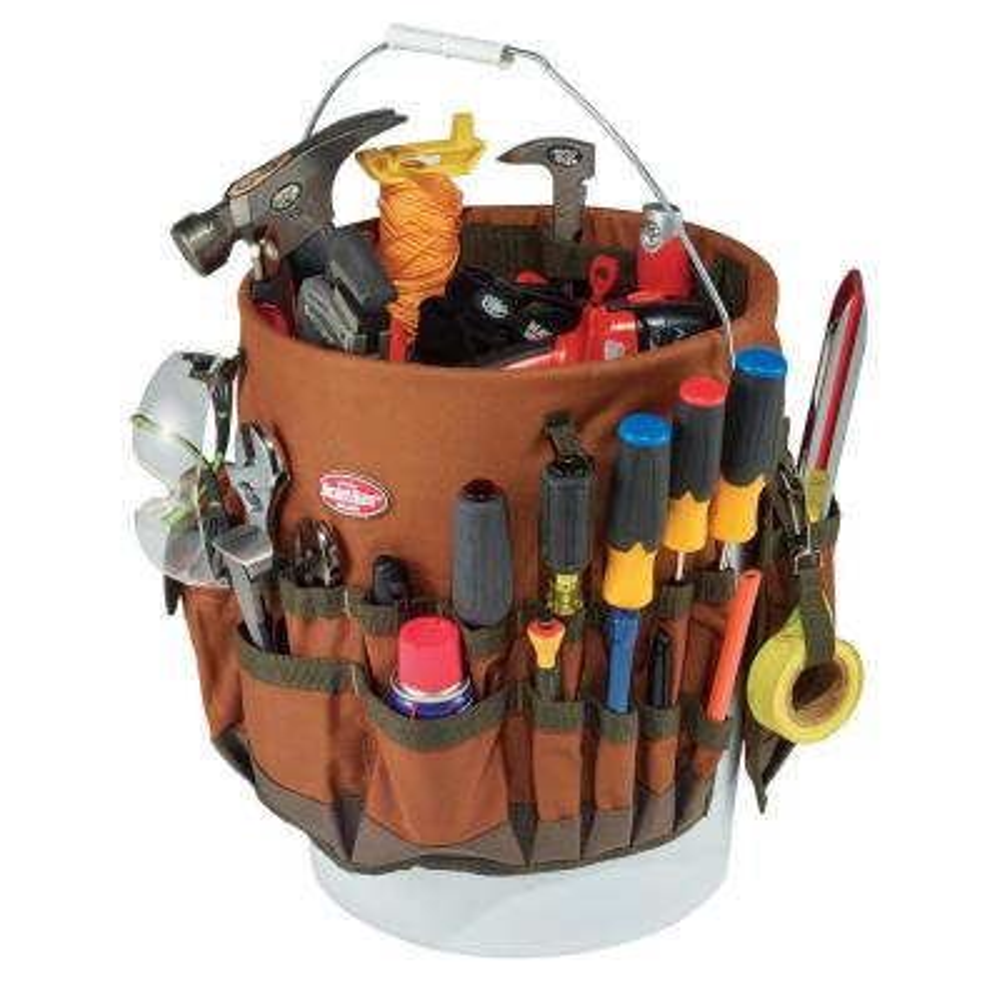 11 in. Tool Bucket BTO in Brown