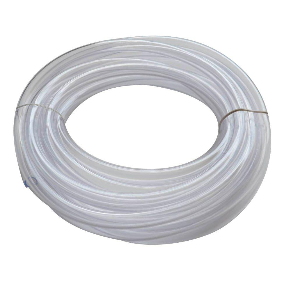 Everbilt 1/2 in. O.D. x 3/8 in. I.D. x 20 ft. Clear PVC Vinyl Tubing