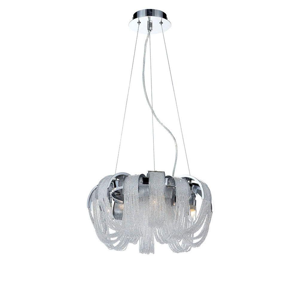 Sage Collection 4-Light Chrome and Clear Chandelier with Crystal Shade