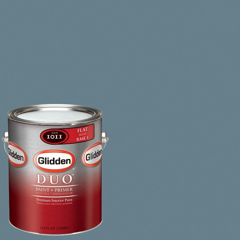 Glidden DUO Martha Stewart Living 1-gal. #MSL162-01F Washed Denim Flat Interior Paint with Primer-DISCONTINUED