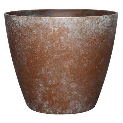 Vogue 8 in. Weathered Copper Resin Planter