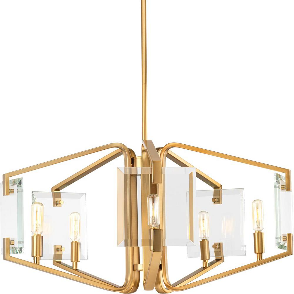 Progress Lighting Cahill Collection 5 Light Brushed Bronze