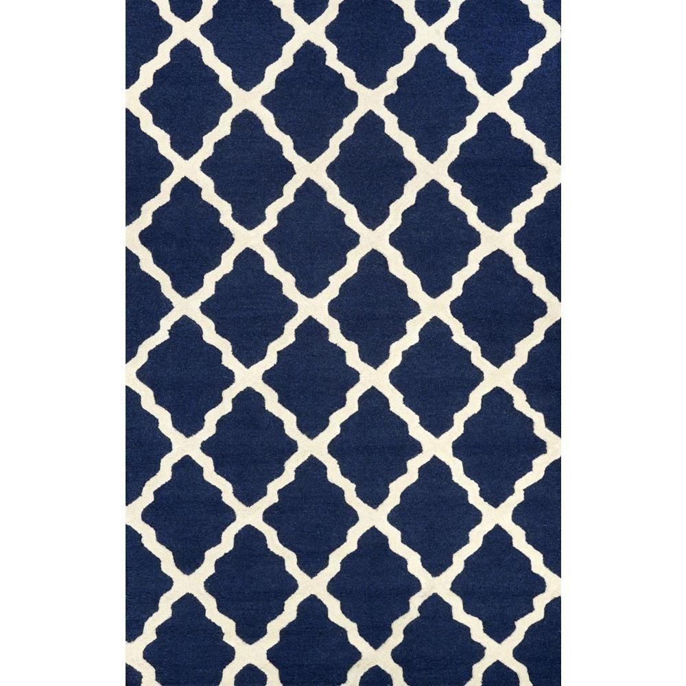 nuLOOM Trellis Navy Blue 8 ft x 10 ft Area Rug MTVS27D The