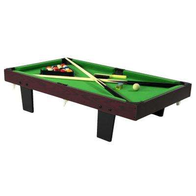 36 in. Mini Tabletop Pool Table with Triangle