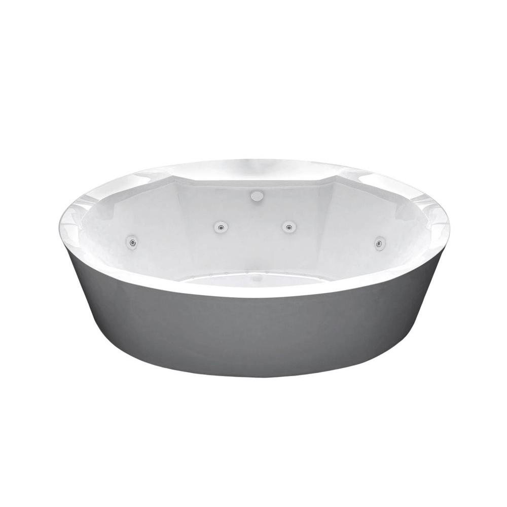 Universal Tubs Sunstone Diamond Series 5.7 ft. Acrylic Center Drain ...