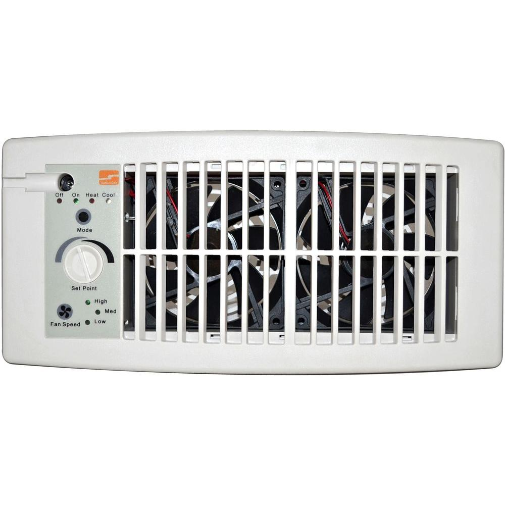 Suncourt Flush Fit Register Booster Fan in White