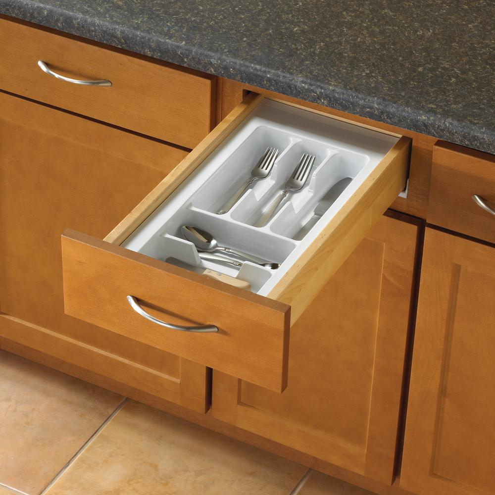 Real Solutions for Real Life 2.19 in. x 11.75 in. x 21 in. Tableware Drawer Organizer