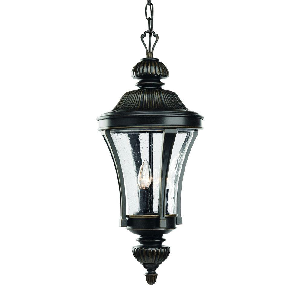 Progress Lighting Nottington Collection 3 Light Forged Bronze Outdoor Hanging Lantern