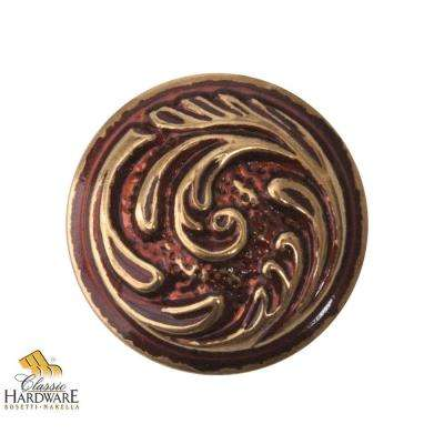Bosetti Marella 1.18 in. Diameter Antique Brass Distressed Round Knob