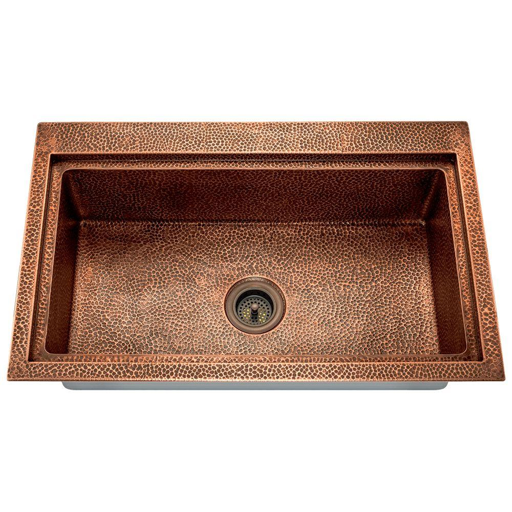 Copper kitchen sink - Copper drop in kitchen sink ...