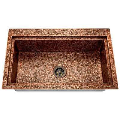 Dualmount Copper 32 in. Single Bowl Kitchen Sink