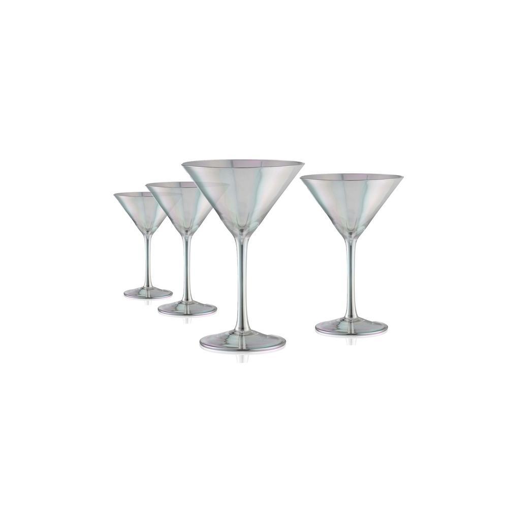 Luster 8 oz. Smoke Martini Glass set (4-Piece)