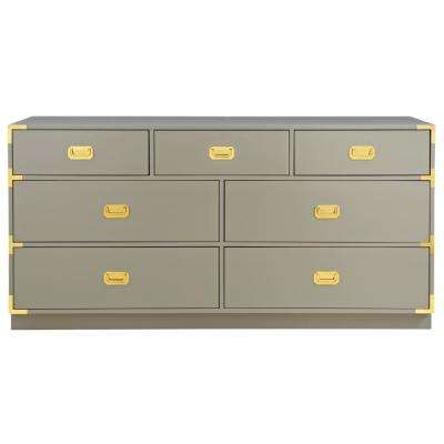 Chatham 7 Drawer Taupe Grey Dresser