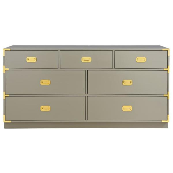 Home Decorators Collection Chatham 7-Drawer Taupe Grey Dresser 9966300270