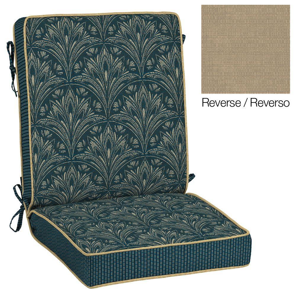 Royal Zanzibar Reversible Chair Cushion