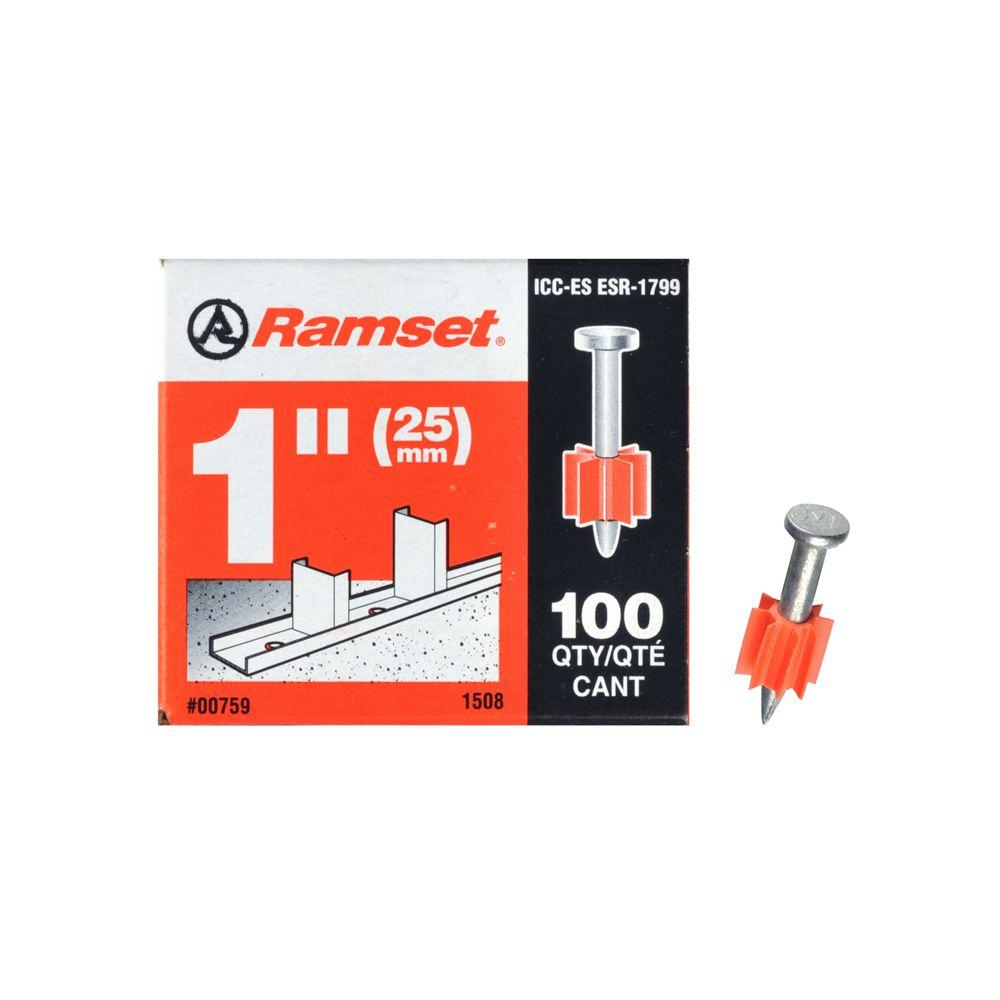 Ramset 1 in. Drive Pins (100-Pack)