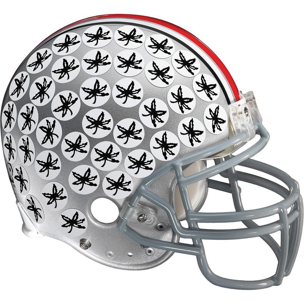 47 in. H x 55 in. W Ohio State Buckeyes Buckeye Leaf Helmet Wall Mural