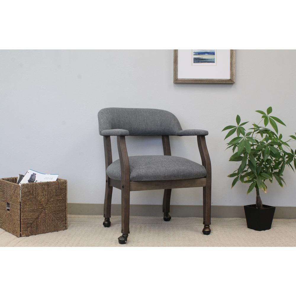 Slate Gray Modern Captain's Chair - Antique Chair Casters Compare Prices At Nextag