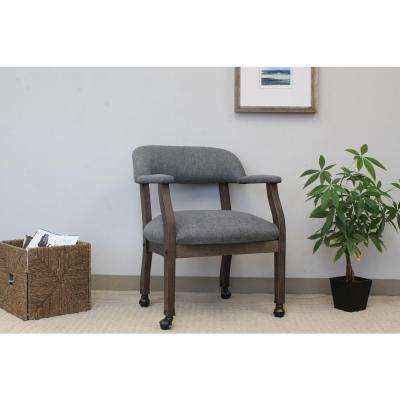 Slate Gray Modern Captain's Chair