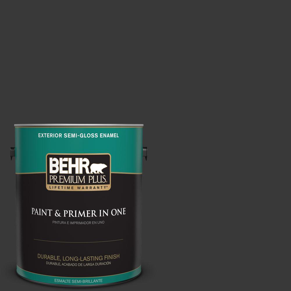 1-gal. #PPF-59 Raven Black Semi-Gloss Enamel Exterior Paint