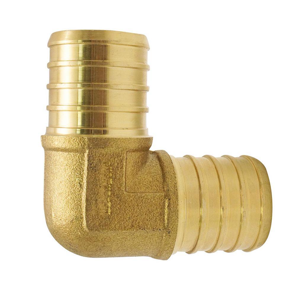 1 in. Brass PEX Barb 90-Degree Elbow