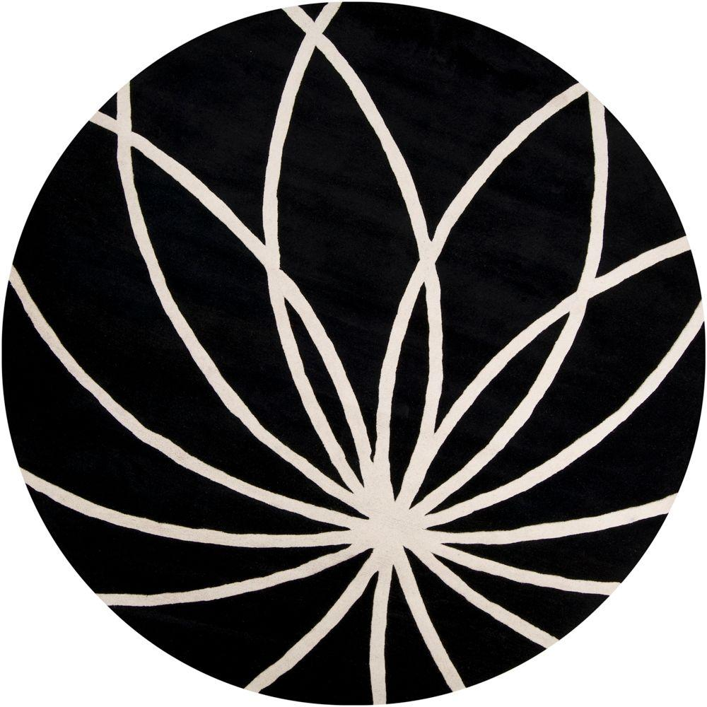 Artistic Weavers Michael Black 8 ft. Round Area Rug