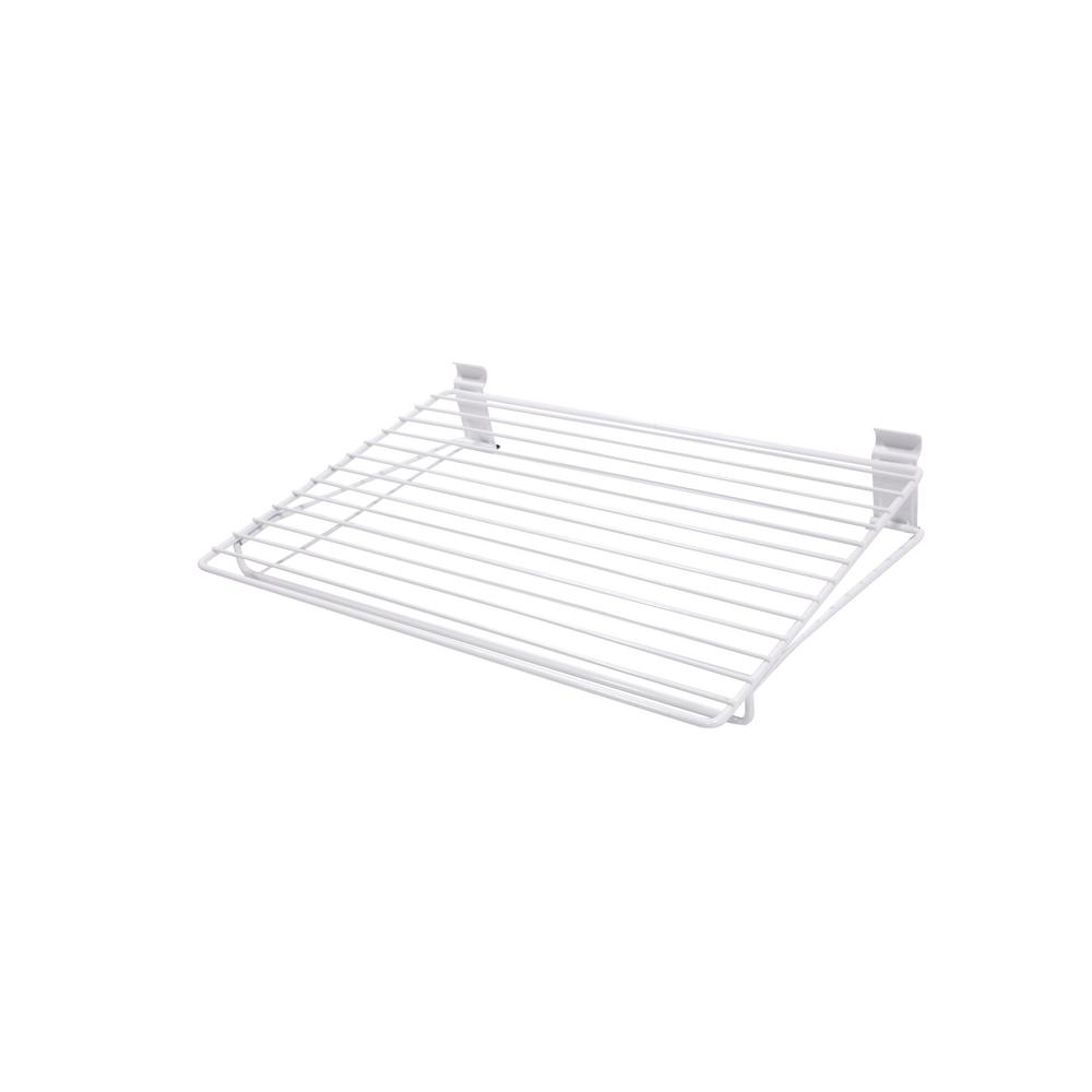 18 in. White Steel Narrow All Purpose Shelf for Wire Shelving