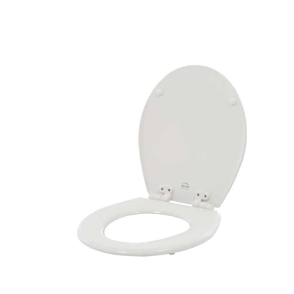 Slow Close Lift Off Round Closed Front Toilet Seat In White