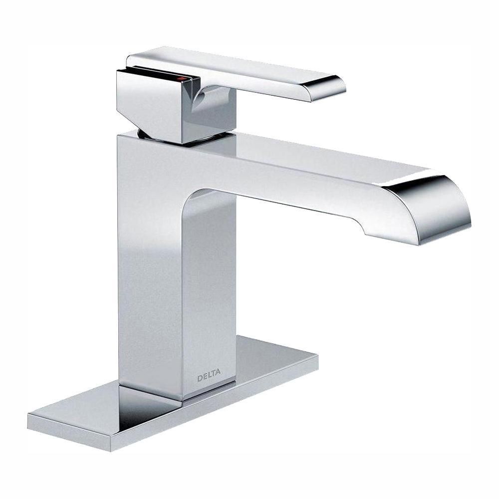 Ara Single Hole Single-Handle Bathroom Faucet in Chrome