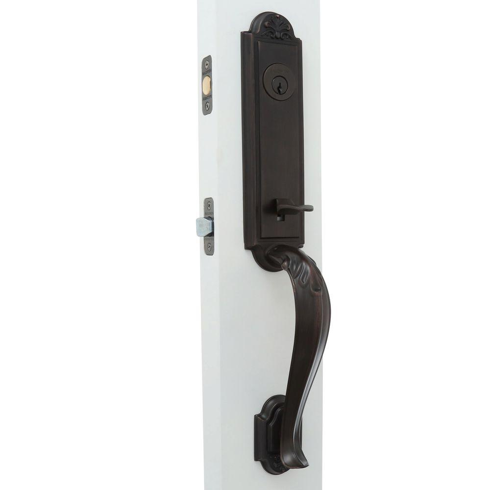 commercial door hardware. Reserve Elizabeth Single Cylinder Venetian Bronze Handleset With Decorative Left-Handed Lever And Traditional Arch Commercial Door Hardware