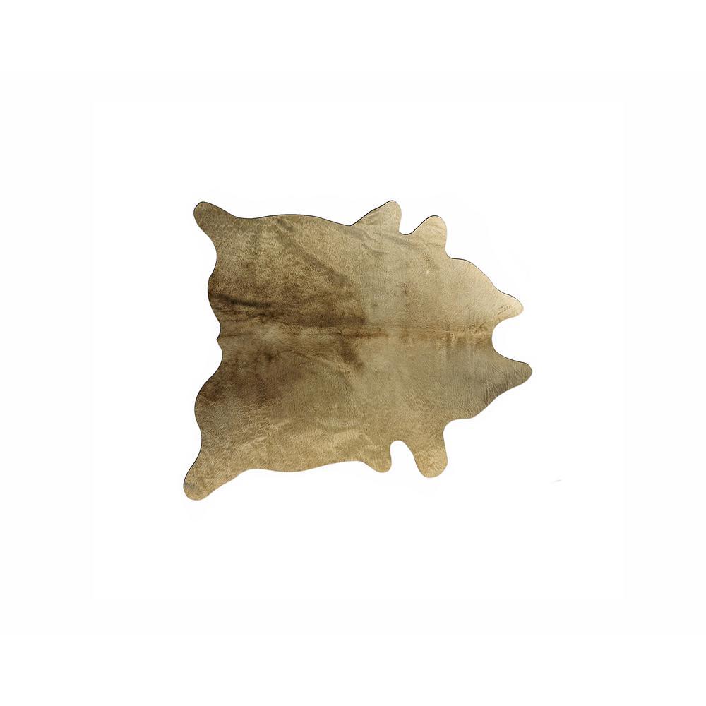 GENEVA COWHIDE GOLD 5 ft. x 7 ft. AREA RUG