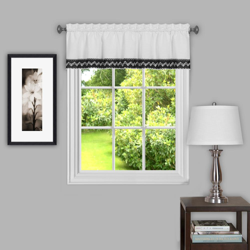 Camden 14 in. L Polyester Valance in Black