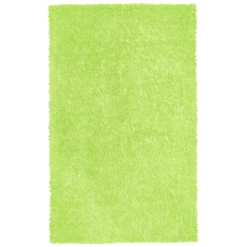 Green Shag Chenille Twist 4 Ft X 6