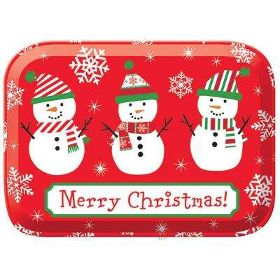 2.875 in. x 8 in. x 6 in. Snowman Plastic Box (5-Pack)