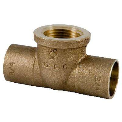 C712-LF 3/4 in. Forged Bronze C x C x F Tee