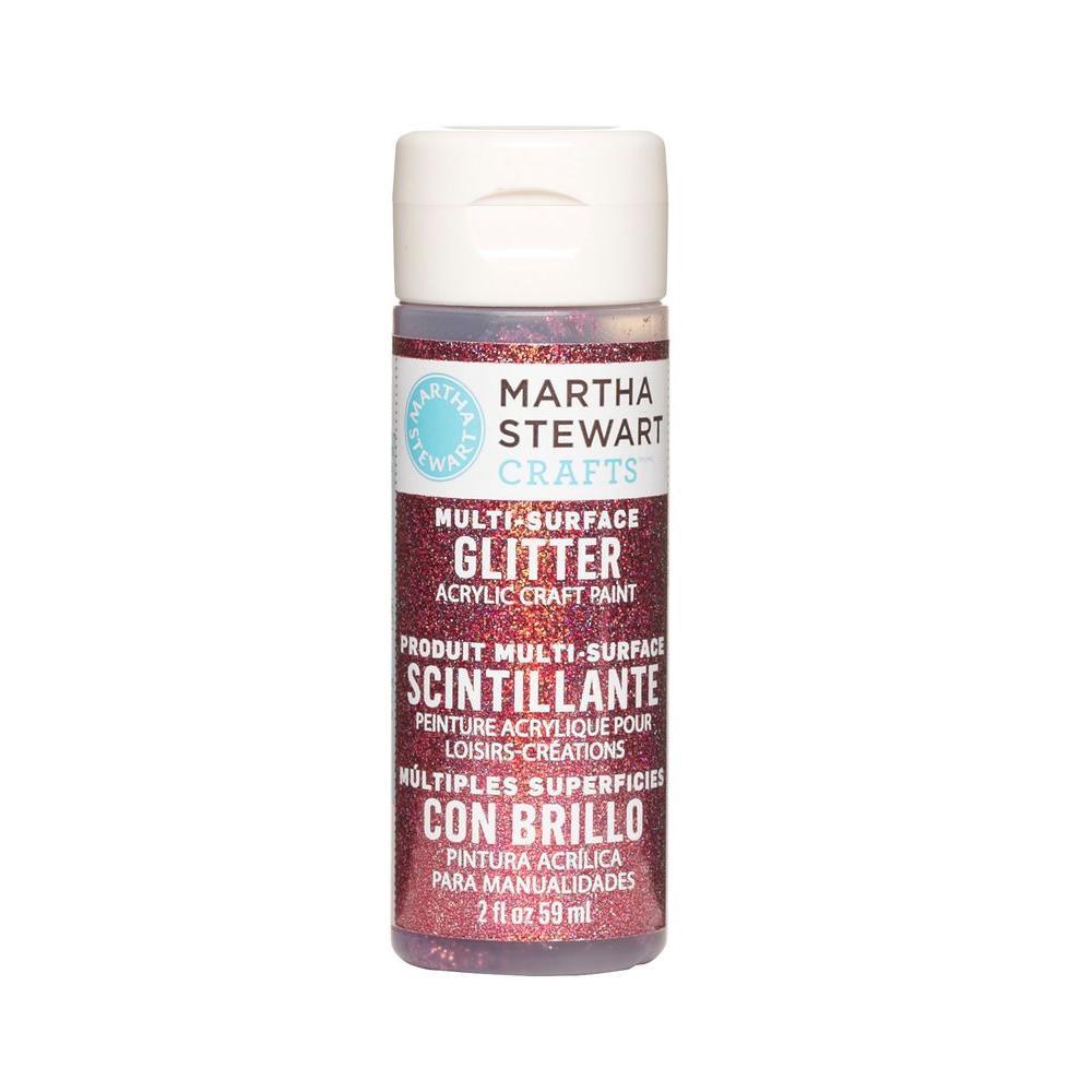 Martha Stewart Crafts 2-oz. Tourmaline Multi-Surface Glitter Acrylic Craft Paint