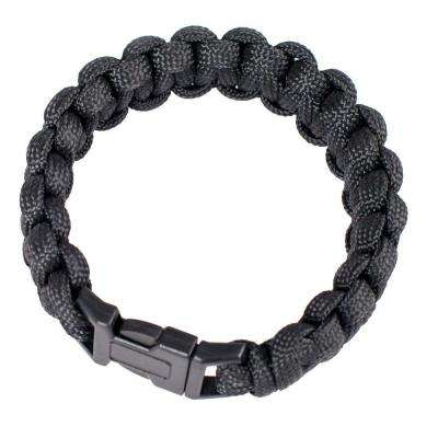 9 in. Polyester Survival Paracord Bracelet - Black