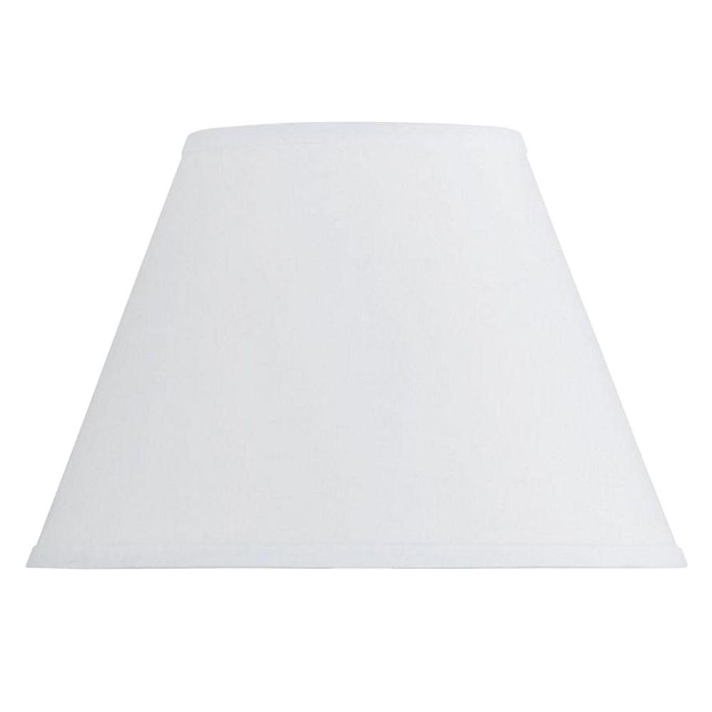 CAL Lighting 8.5 in. White Hardback Fabric Lamp Shade