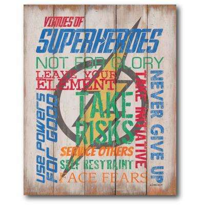"16 in. x 20 in. ""Superhero II"" Gallery Wrapped Canvas Printed Wall Art"